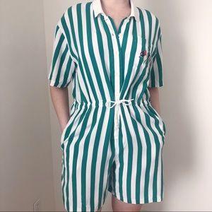 5fd9e9e074 Women s Stripe White Vintage Romper on Poshmark